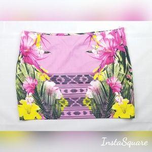 Buffalo Tropical Mini Skirt Milky Grape.